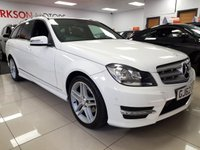 USED 2012 62 MERCEDES-BENZ C CLASS 2.1 C220 CDI BLUEEFFICIENCY AMG SPORT 5d+ESTATE+SAT NAV+LEATHER+
