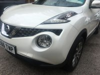 USED 2016 66 NISSAN JUKE 1.2 TEKNA DIG-T 5d 115 BHP Only 8,000 Miles, Leather Interior, Perimeter Camera's,Sat Nav,Pearlescant White Paint