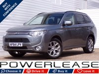 USED 2014 64 MITSUBISHI OUTLANDER 2.0 PHEV GX 4H 5d AUTO 162 BHP CAMERA SAT NAV LEATHER SUNROOF