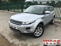 USED 2012 12 LAND ROVER RANGE ROVER EVOQUE 2.2 SD4 PURE TECH 5d AUTO 190 BHP 4WD SAT NAV LEATHER ONE OWNER FSH 4WD. SATELLITE NAVIGATION. TECH PACK. STUNNING SILVER MET WITH FULL BEIGE LEATHER TRIM. HEATED SEATS. CRUISE CONTROL. 18 INCH ALLOYS. COLOUR CODED TRIMS. PARKING SENSORS. BLUETOOTH PREP. CLIMATE CONTROL INCLUDING AIR CON. MULTIMEDIA SYSTEM. R/CD/DAB RADIO. MFSW. MOT 03/20. ONE OWNER FROM NEW. FULL SERVICE HISTORY. PRESTIGE SUV CENTRE - LS24 8EJ. TEL 01937 849492 OPTION 1