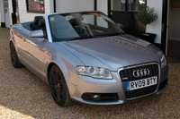 USED 2009 09 AUDI A4 2.0 TDI S LINE SPECIAL EDITION 2d 141 BHP A final edition Audi A4 TDi cabriolet with outstanding lineage