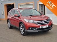 "USED 2014 14 HONDA CR-V 1.6 I-DTEC SR 5d 118 BHP 18"" Alloys, Touch Screen Sat Nav, Parking Sensors, Bluetooth, 1/2 Leather, Heated Seats, Cruise Control"