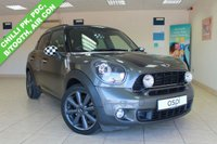 USED 2014 63 MINI COUNTRYMAN 1.6 COOPER S 5d 184 BHP BLACK HALF LEATHER, AIR CONDITIONING, REAR PRIVACY GLASS, SPOT LIGHTS, CHILLI PACK, ARM REST, REAR PARKING SENSORS, BLUETOOTH, BLACK ALLOY WHEELS, BLACK ROOF