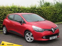 """USED 2014 64 RENAULT CLIO 1.5 EXPRESSION PLUS ENERGY DCI S/S 5d 90 BHP * FLAME RED * 16"""" ALLOYS * BLACK AND RED INTERIOR * PRIVACY GLASS *"""