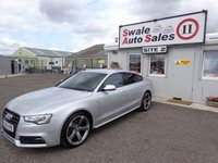 USED 2013 13 AUDI A5 2.0 SPORTBACK TDI BLACK EDITION S/S 5 DOOR 175 BHP £64 PER WEEK, NO DEPOSIT - SEE FINANCE LINK