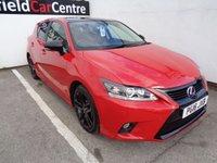 2016 LEXUS CT 1.8 200H SPORT 5d AUTO 134 BHP £14675.00