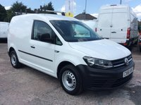 USED 2016 66 VOLKSWAGEN CADDY 2.0 C20 TDI STARTLINE 101 BHP 1 OWNER FSH MANUFACTURER'S WARRANTY EURO 6 ELECTRIC WINDOWS AND MIRRORS BLUETOOTH SPARE KEY ROOF RACK