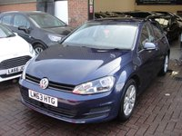 USED 2013 63 VOLKSWAGEN GOLF 1.6 SE TDI BLUEMOTION TECHNOLOGY DSG 5d AUTO 103 BHP ANY PART EXCHANGE WELCOME, COUNTRY WIDE DELIVERY ARRANGED, HUGE SPEC