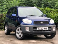 2002 TOYOTA RAV4 2.0 NV VVT-I 5d 146 BHP £2295.00