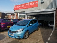USED 2014 14 NISSAN NOTE 1.2 TEKNA DIG-S 5d AUTO 98 BHP 8990 MILES FROM NEW! £30 TAX! LOW CO2 EMISSIONS, GREAT SPEC INCLUDING ALLOY WHEELS, CLIMATE CONTROL, PARKING SENSORS, PRIVACY GLASS, CRUISE CONTROL AND SAT NAV! MEETS LARGE CITY EMISSION STANDARDS!