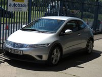 USED 2008 08 HONDA CIVIC 1.8 I-VTEC TYPE-S 3dr Air con Alloys Finance arranged Part exchange available Open 7 days