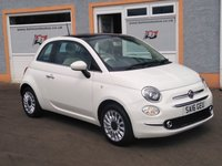 USED 2016 16 FIAT 500 1.2 LOUNGE 3d 69 BHP Panoramic Glass Roof, Bluetooth, Rear Parking Sensors, 4 Stamps in the service book