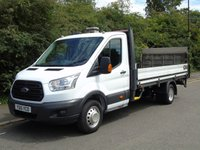 USED 2015 15 FORD TRANSIT T350 2.2TDCI 124 BHP LWB DROPSIDE TRUCK WITH TAILLIFT P/SENSORS+500KG TAILLIFT+