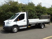 2015 FORD TRANSIT T350 2.2TDCI 124 BHP LWB DROPSIDE TRUCK WITH TAILLIFT £9750.00