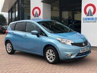 USED 2014 64 NISSAN NOTE 1.2 ACENTA 5d 80 BHP BLUETOOTH | ALLOYS | AIR CON |