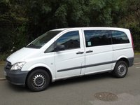 2013 MERCEDES-BENZ VITO 2.1 113 CDI TRAVELINER AUTO 136 BHP 5DR MPV SWB MINI BUS £5995.00