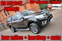 USED 2016 16 NISSAN NP300 NAVARA 2.3 DCI TEKNA 4X4 DCB AUTO 190 BHP + HARDTOP + WARRANTY AUTO BOX + HARD TOP + SUPER LOW MILES