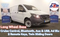 2017 MERCEDES-BENZ VITO 1.6 111 CDI 115 BHP Long Wheel Base in White with Cruise Control, Bluetooth, Twin Sliding Doors, Aux & USB, Ply Lining and more £9480.00