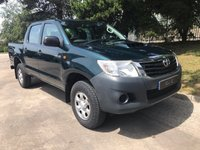 USED 2012 12 TOYOTA HI-LUX 2.5 HL2 4X4 D-4D DCB 1d 142 BHP A Well Maintained Utility Work Vehicle in Great Condition with a Fitted Toyota Rear Load Liner, Air Conditioning, Towbar with Electrics and Select able 2 and 4 wheel Drive Modes