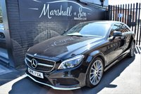 USED 2016 16 MERCEDES-BENZ CLS CLASS 3.0 CLS350 D AMG LINE PREMIUM PLUS 4d AUTO 255 BHP STUNNING CAR - ONE OWNER - MB S/H TO 2019 - LEATHER - NAV - R/CAMERA - H/SEATS - SUNROOF - HARMAN KARDON SPEAKERS