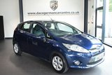 """USED 2012 12 FORD FIESTA 1.6 ZETEC ECONETIC TDCI DPF 5DR 94 BHP full service history  * NO ADMIN FEES * FINISHED IN STUNNING BLUE WITH GREY UPHOLSTERY + FULL SERVICE HISTORY + PARKING SENSORS + HEATED WINDSCREEN + AIR CON + AUX/USB + MULTI STEERING + ELECTRIC WINDOWS + 14"""" ALLOY WHEELS"""