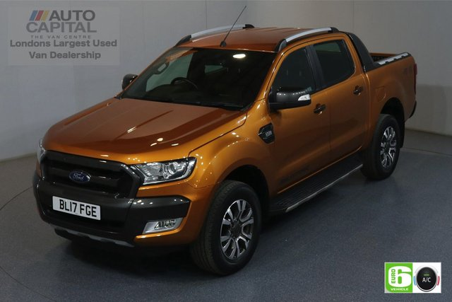 2017 17 FORD RANGER 3.2 WILDTRAK 4X4 DCB TDCI AUTO 197 BHP EURO 6 AIR CON MOT UNTIL 17/05/2020