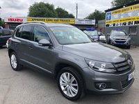 2012 VOLKSWAGEN TIGUAN 2.0 SPORT TDI BLUEMOTION TECHNOLOGY 5d 138 BHP IN METALLIC GREY WITH 44000 MILES, ONE OWNER AND A FULL SERVICE HISTORY  £8999.00