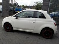USED 2013 13 FIAT 500 1.2 POP 3d 69 BHP Bossa Nova White gloss / Red cloth with Ivory ambience
