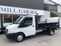 2013 FORD TRANSIT 2.2 350 RWD 125 BHP S-CAB TIPPER WITH TAIL LIFT £10695.00
