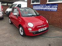 USED 2009 59 FIAT 500 1.2 C LOUNGE MULTIJET 3d 75 BHP CABRIOLET CONVERTIBLE ELECTRIC ROOF, DIESEL, LEATHER