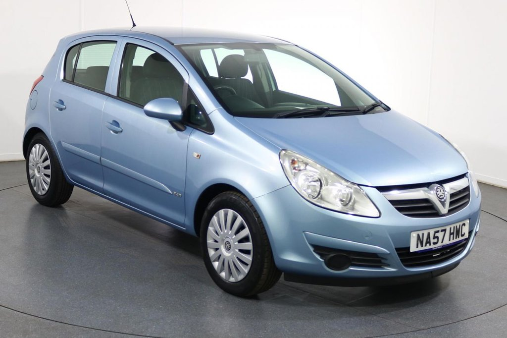USED 2007 57 VAUXHALL CORSA 1.2 CLUB A/C 16V 5d 80 BHP VERY LOW RUNNING COSTS