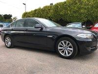 2013 BMW 5 SERIES 2.0 520D EFFICIENTDYNAMICS 4d WITH SAT NAV, LEATHER  £8000.00