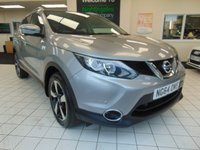 USED 2015 64 NISSAN QASHQAI 1.2 N-TEC PLUS DIG-T 5d 113 BHP SATELLITE NAVIGATION + BLUETOOTH + PANORAMIC GLASS ROOF + 360 PARKING CAMERA + FRONT AND REAR PARKING AID + DAB RADIO + REMOTE CENTRAL LOCKING + CRUISE CONTROL + CLIMATE CONTROL + PRIVACY GLASS