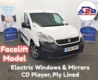 2015 PEUGEOT PARTNER 1.6 HDI 850 S 92 BHP Facelift Model in White with CD Player, Metal & Mesh Bulkhead, Electric Windows and Mirrors, Sliding Door £5480.00