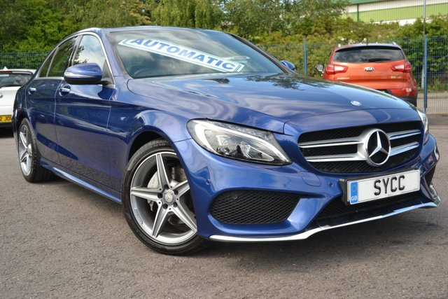 USED 2016 66 MERCEDES-BENZ C CLASS 2.1 C220 D AMG LINE PREMIUM PLUS 4d AUTO 170 BHP BRILLIANT BLUE METALLIC ~ 6 MONTHS WARRANTY ~ NATIONWIDE DELIVERY AVAILABLE