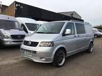 USED 2005 05 VOLKSWAGEN TRANSPORTER 2.5TDI T30 LWB 130BHP CAMPER. ALLOYS. AC. LEATHER. SENSORS. PX 20'' ALLOYS. SENSORS. CAMPER. LEATHER. PX WELCOME