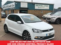 USED 2016 66 VOLKSWAGEN POLO 1.2 MATCH TSI DSG 5 DOOR AUTO PURE WHITE 12037 MILES 89 BHP LOW MILES FSH DSG BLUETOOTH DAB CRUISE CONTROL PRIVACY GLASS