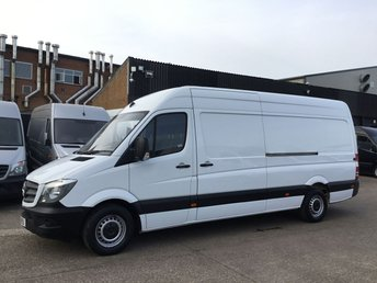 2015 MERCEDES-BENZ SPRINTER 2.1 313CDI LWB HIGH ROOF 130BHP. 8 SERVICES. 1 OWNER. FINANCE. £9490.00