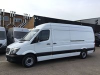 USED 2015 15 MERCEDES-BENZ SPRINTER 2.1 313CDI LWB HIGH ROOF 130BHP. 7 SERVICES. 1 OWNER. FINANCE. 1 OWNER. 7 SERVICES. FINANCE. WARRANTY. PX WELCOME