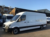 USED 2014 64 MERCEDES-BENZ SPRINTER 2.1 313CDI LWB HIGH ROOF 130BHP. VERY LOW 29,910 MILES. 1 OWNER. VERY LOW 29,910 MILES. F/S/H. 1 OWNER. FINANCE. WARRANTY. PX