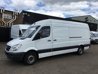 USED 2012 62 MERCEDES-BENZ SPRINTER 2.1 313CDI LWB HIGH ROOF 130BHP. F/S/H. FINANCE. CLEAN EXAMPLE. PX SUPERB CLEAN EXAMPLE. FINANCE. WARRANTY. PX WELCOME.