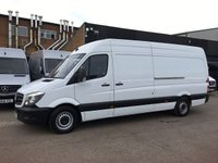 USED 2016 16 MERCEDES-BENZ SPRINTER 2.1 313CDI LWB HIGH ROOF 130BHP. LOW 49K MILES. 1 OWNER LOW 49K MILES. FINANCE. WARRANTY. CHOICE OF 50 SPRINTERS. PX