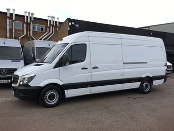 2016 MERCEDES-BENZ SPRINTER 2.1 313CDI LWB HIGH ROOF 130BHP. LOW 49K MILES. 1 OWNER £12490.00