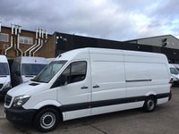 USED 2016 16 MERCEDES-BENZ SPRINTER 2.1 313CDI LWB HIGH ROOF 130BHP. 1 OWNER. 74K MLS. FINANCE. 1 OWNER. LOW 74K. FSH. FINANCE. WARRANTY. PX POSS