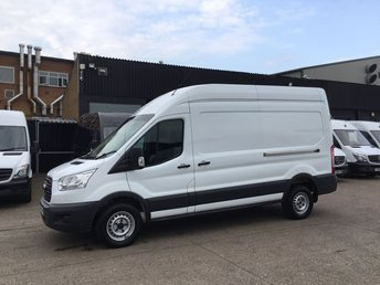 2016 FORD TRANSIT 2.2TDCI T350 LWB HIGH ROOF 125BHP. LOW 73K. FSH. FINANCE. £9850.00