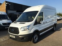 USED 2016 66 FORD TRANSIT 2.2TDCI T350 LWB HIGH ROOF 125BHP. LOW 38K MLS. FINANCE. LOW 38K MILES. FORD WARRANTY. FINANCE. EURO6. PX