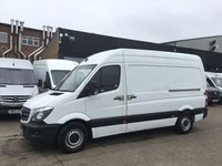 USED 2014 14 MERCEDES-BENZ SPRINTER 2.1 313CDI MWB HIGH ROOF 130BHP 1 OWNER. F/S/H. FINANCE. PX 1 OWNER. F/S/H. FINANCE. WARRANTY. PX WELCOME