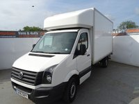USED 2016 16 VOLKSWAGEN CRAFTER CR35 TDI 2.0 CR35 TDI C/C 1d 109 BHP VW CRAFTER LUTON LOW MILES GREAT CONDITION
