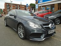 USED 2014 64 MERCEDES-BENZ E CLASS 2.1 E220 CDI AMG SPORT 2d AUTO 170 BHP ONLY 35,000 MILES!