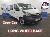 2015 VAUXHALL VIVARO 1.6 2900 L2 CDTI DCB 115  BHP  CREW CAB, LONG WHEELBASE, Bluetooth, Ply-Lined, One Owner, 2 keys £10480.00
